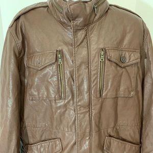 Vintage Brown Tommy Hilfiger Leather Jacket XXL